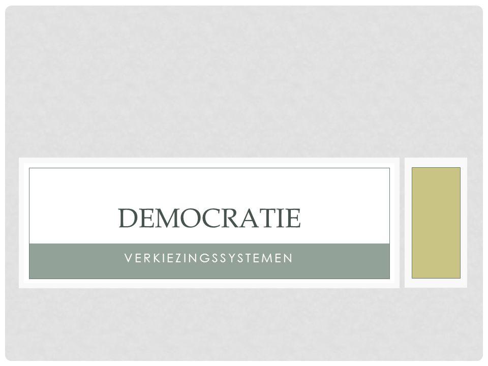 VERKIEZINGSSYSTEMEN Organisatie van verkiezingen heeft grote gevolgen voor de staatsstructuur.
