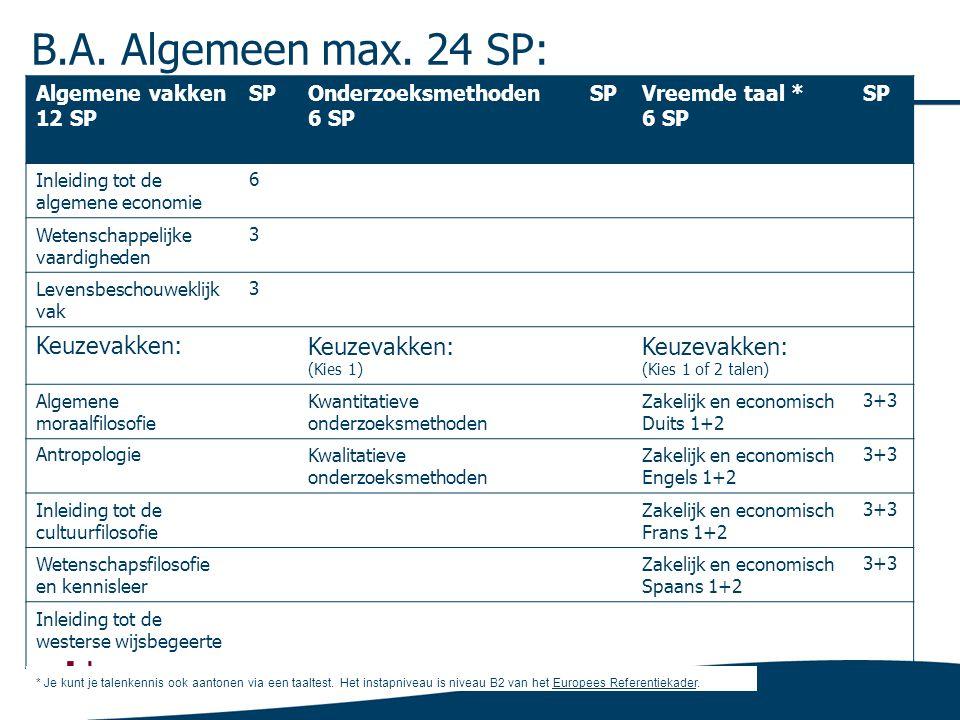 B.A.Algemeen max.
