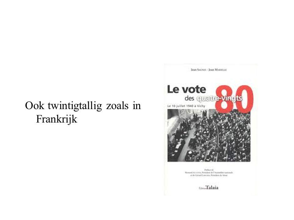 Ook twintigtallig zoals in Frankrijk