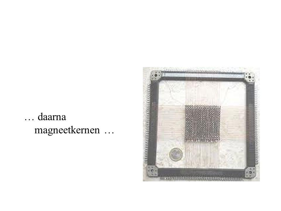 … daarna magneetkernen …