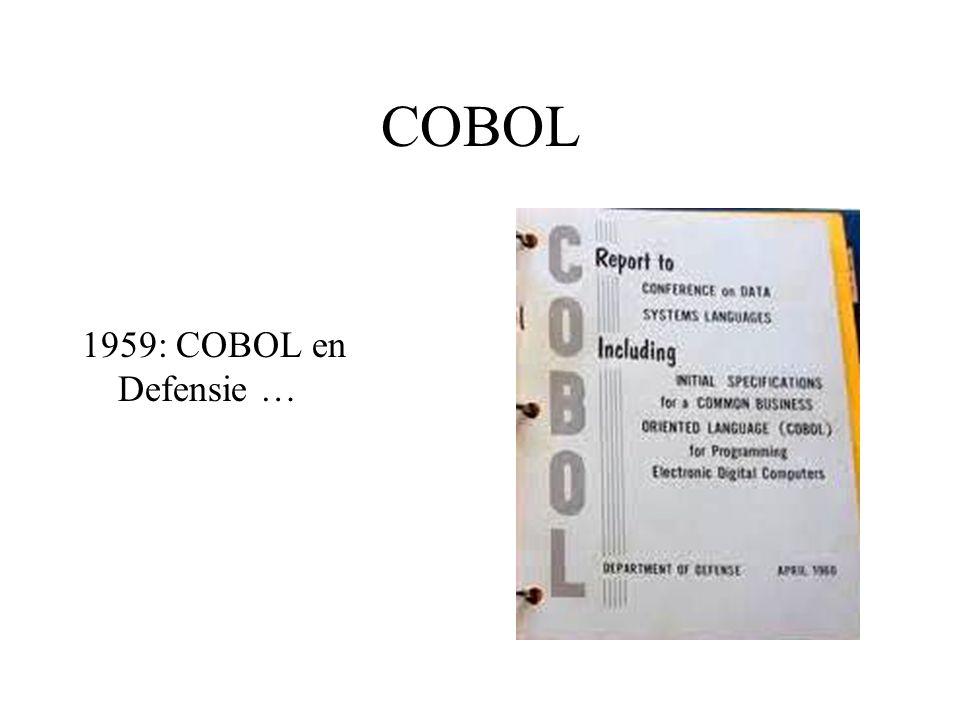 COBOL 1959: COBOL en Defensie …