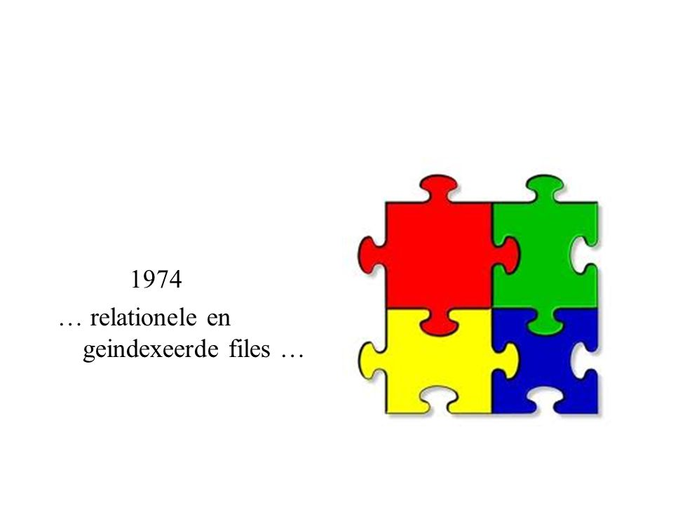 1974 … relationele en geindexeerde files …
