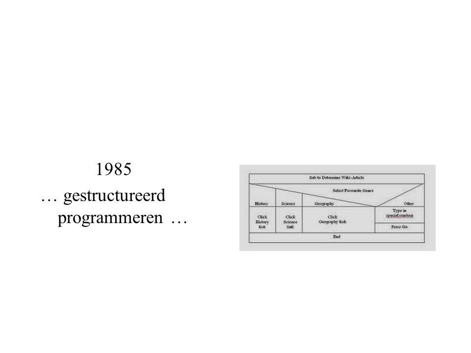 1985 … gestructureerd programmeren …
