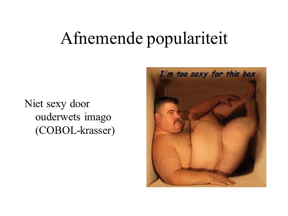 Afnemende populariteit Niet sexy door ouderwets imago (COBOL-krasser)