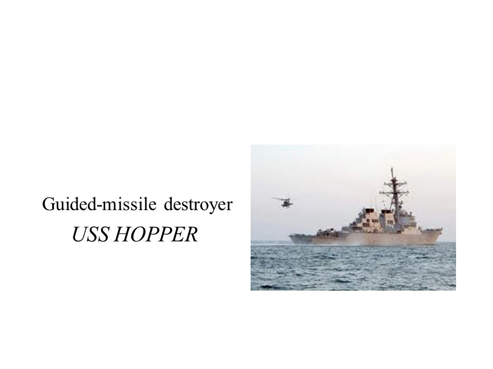 Guided-missile destroyer USS HOPPER