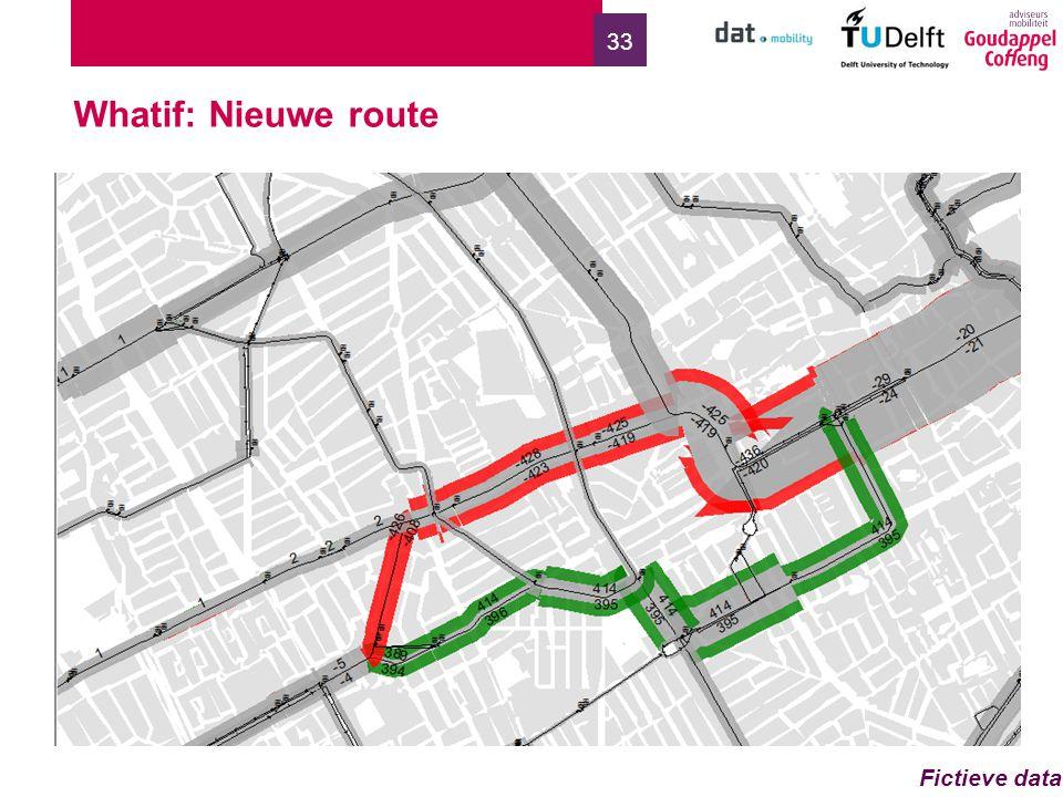 33 Whatif: Nieuwe route Fictieve data