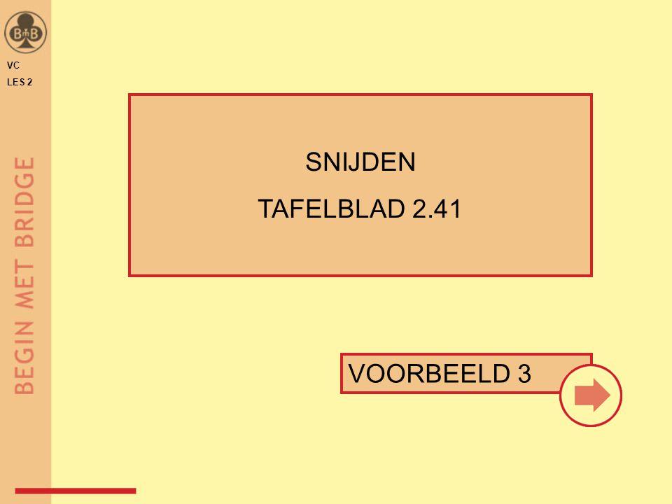 VC LES 2 SNIJDEN TAFELBLAD 2.41 VOORBEELD 3