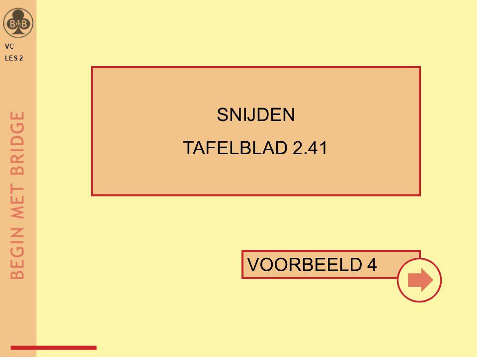 VC LES 2 SNIJDEN TAFELBLAD 2.41 VOORBEELD 4
