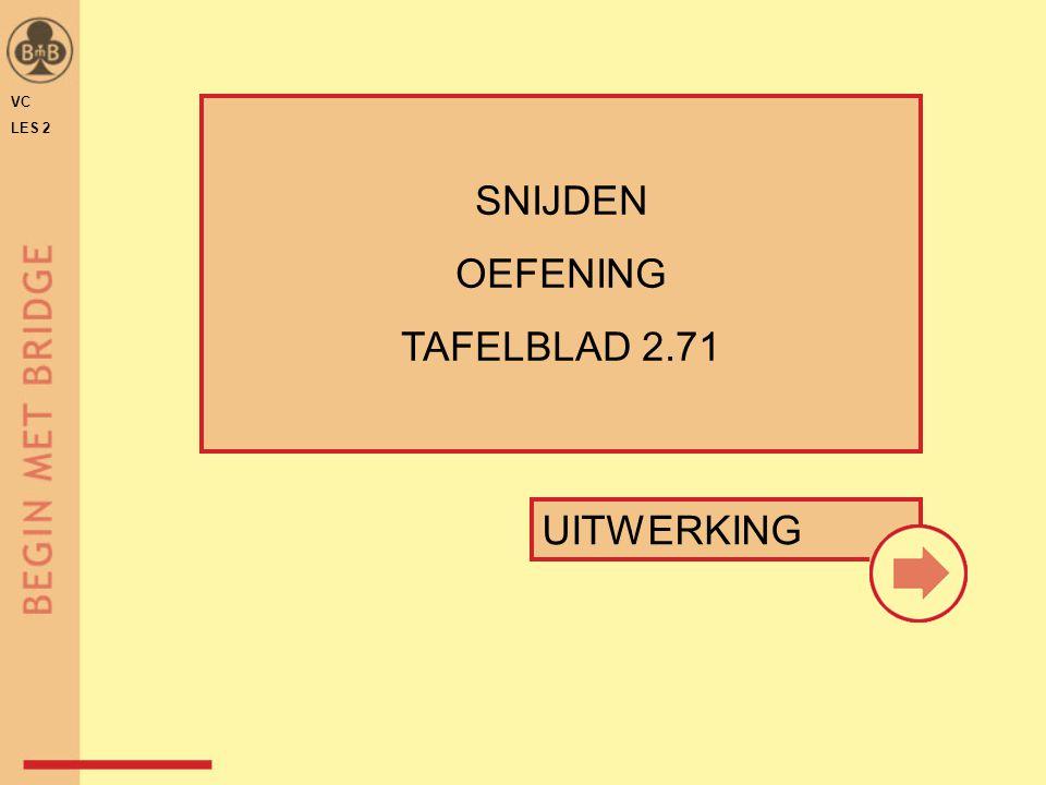 UITWERKING SNIJDEN OEFENING TAFELBLAD 2.71 VC LES 2