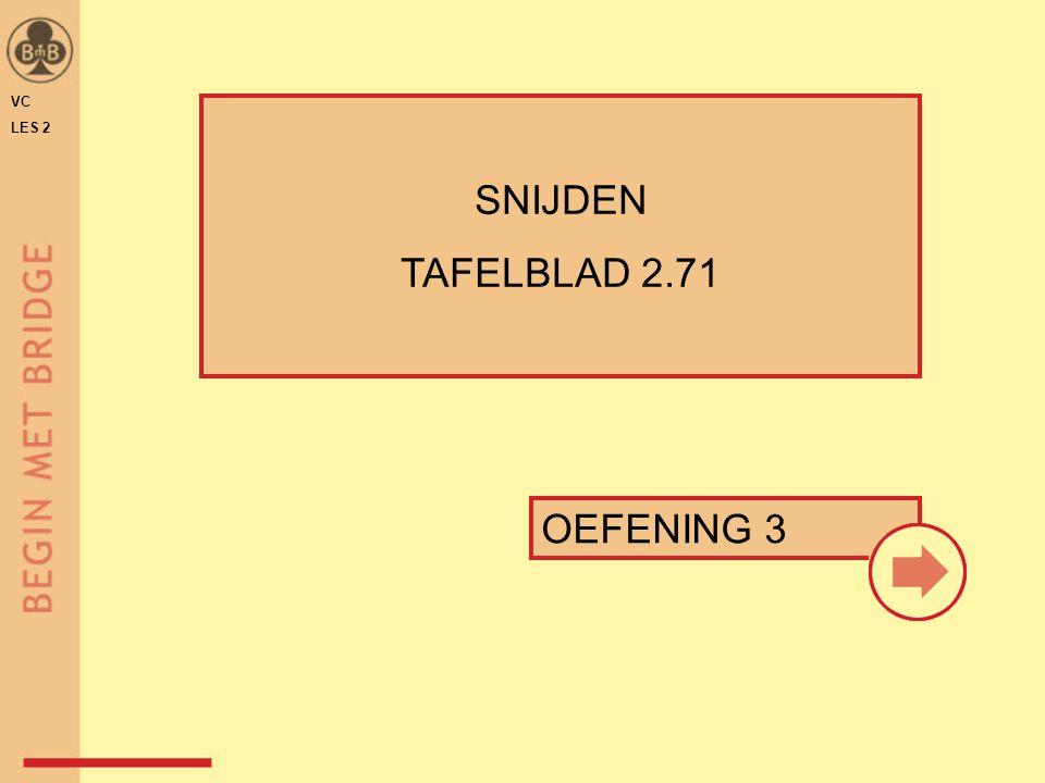 OEFENING 3 VC LES 2 SNIJDEN TAFELBLAD 2.71