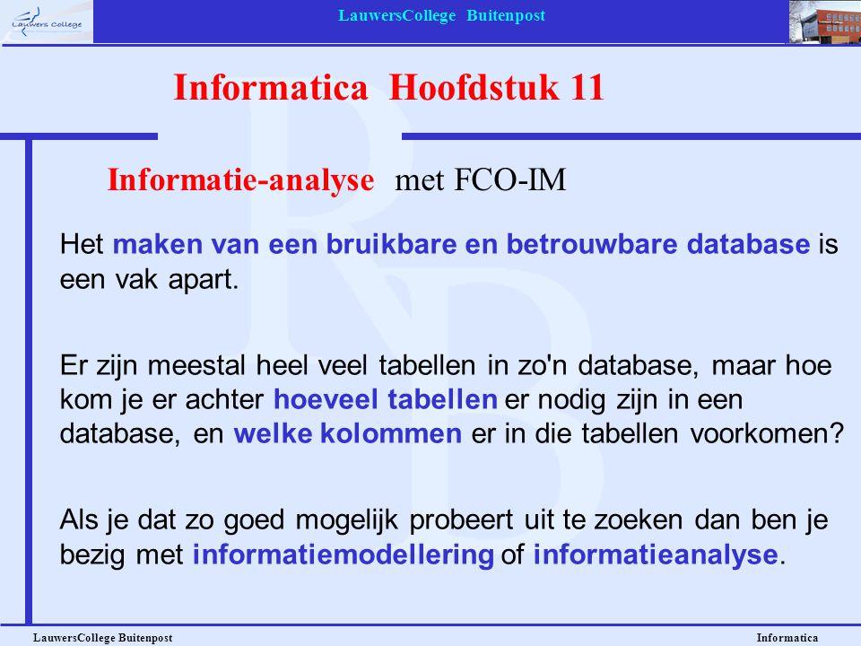 LauwersCollege Buitenpost LauwersCollege Buitenpost Informatica Stap 3: Zoek de feiten die op elkaar lijken.