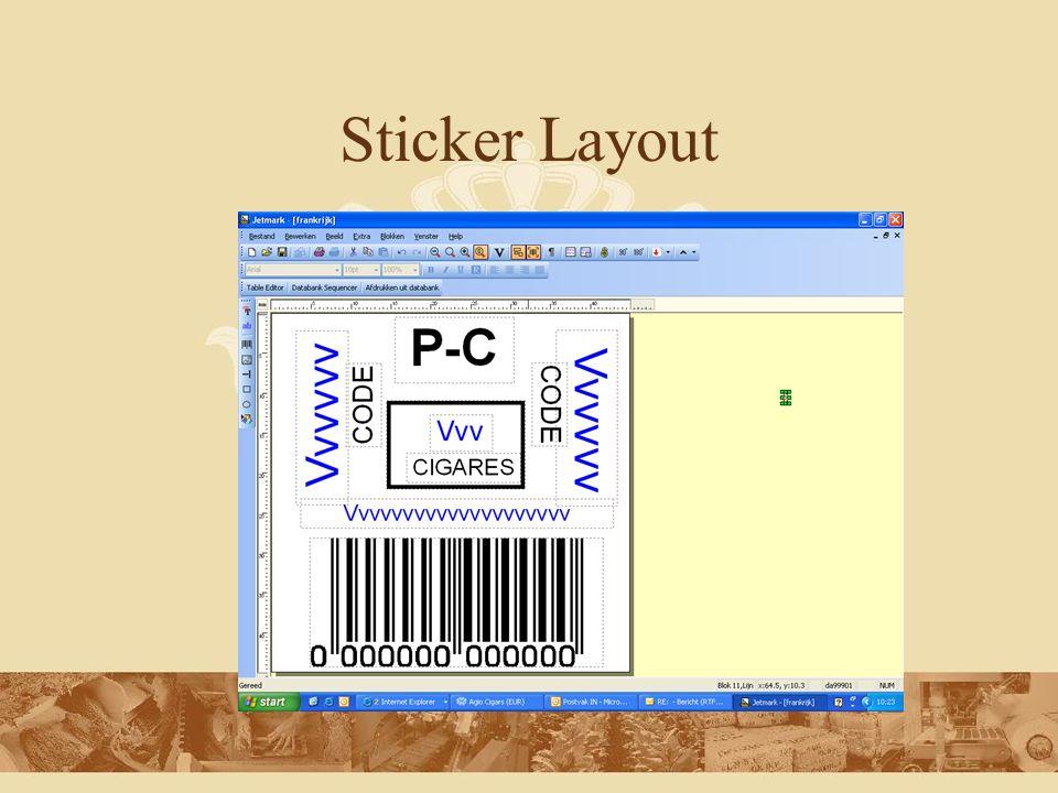 MFG/Pro bestand fldPrinter da03001 fldWYSIWYG no fldMasker d:/etiketten/etiketten/fmt/db_format_1_n.fmt fldAantal 65000 fldIdentNr 4939009 fldEAN 871062251770 fldTekst1 20 BIDDIES SUMATRA fldTekst2 fldTekst3 INFO@AGIOCIGARS.COM fldOverdoostekst fldOverdoostekst2 fldOverdoostekst3 fldOverdoostekst4 fldOverdoostekst5 fldTekstvrij1 fldTekstvrij2