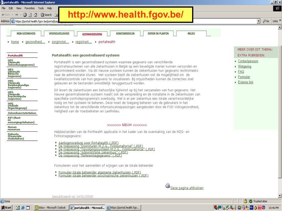 FOD VOLKSGEZONDHEID, VEILIGHEID VAN DE VOEDSELKETEN EN LEEFMILIEU 34 http://www.health.fgov.be/