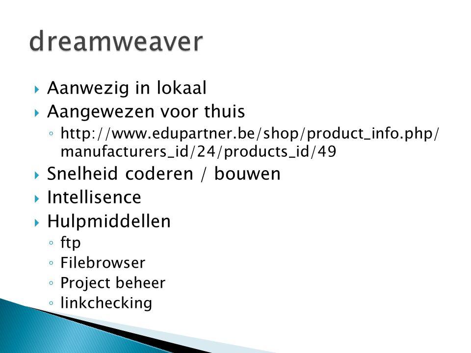  Aanwezig in lokaal  Aangewezen voor thuis ◦ http://www.edupartner.be/shop/product_info.php/ manufacturers_id/24/products_id/49  Snelheid coderen /