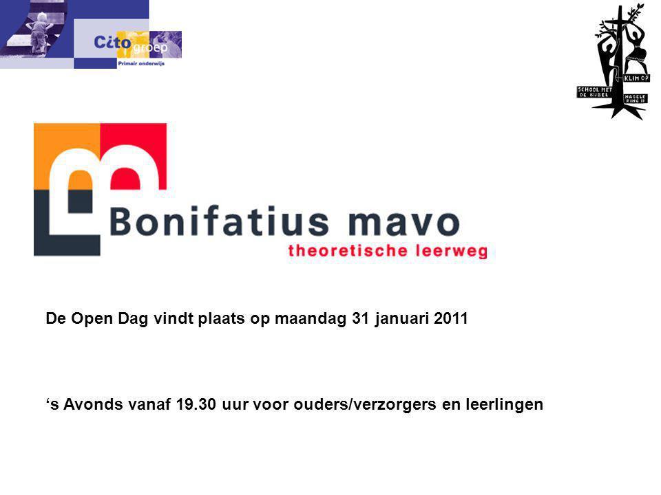 Informatie avond – CITO 18-01-06 De Open Dag vindt plaats op maandag 31 januari 2011 's Avonds vanaf 19.30 uur voor ouders/verzorgers en leerlingen