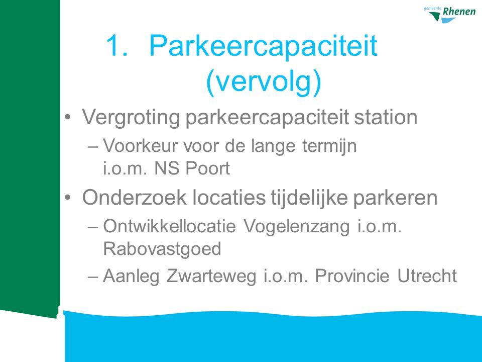Vergroting parkeercapaciteit station –Voorkeur voor de lange termijn i.o.m.