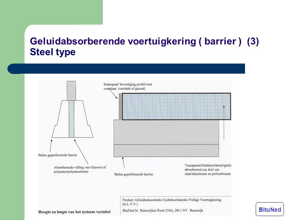 Geluidabsorberende voertuigkering ( barrier ) (3) Steel type BituNed