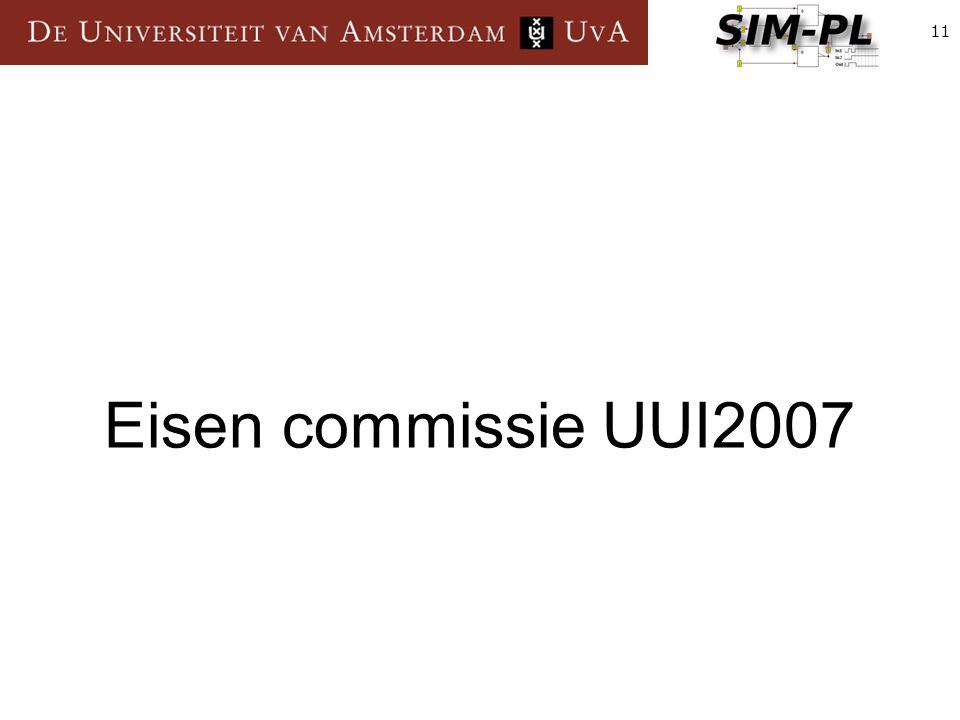 11 Eisen commissie UUI2007