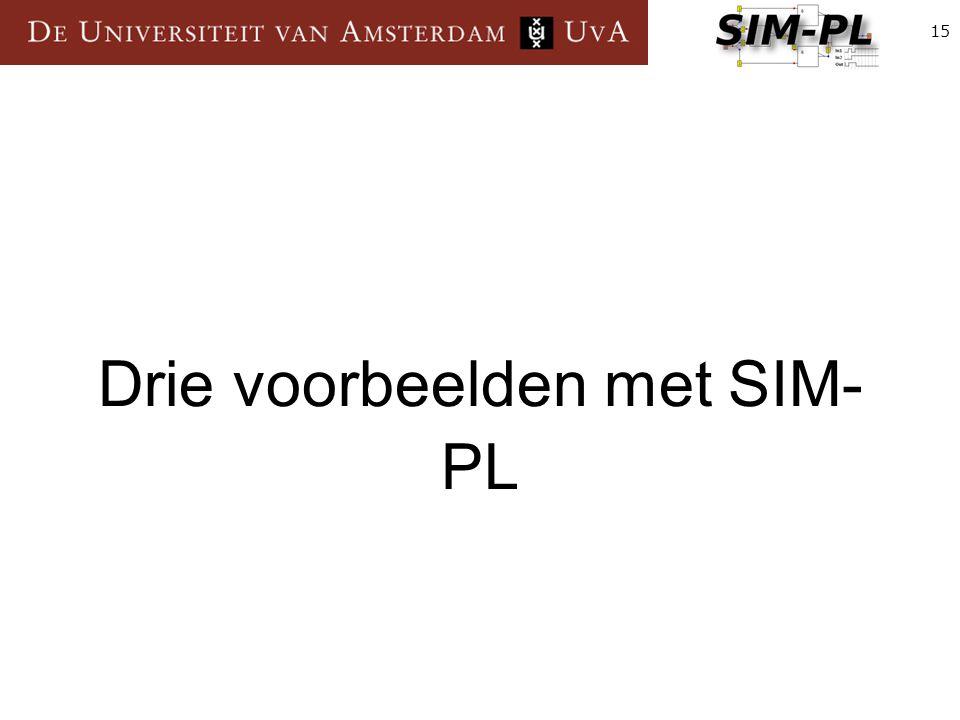 15 Drie voorbeelden met SIM- PL