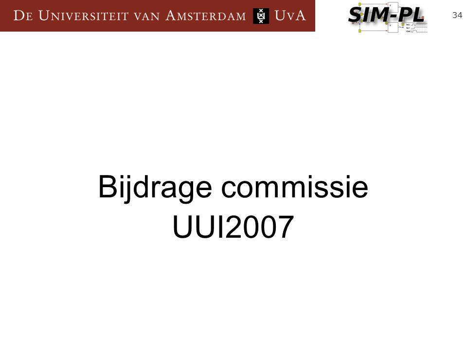 34 Bijdrage commissie UUI2007