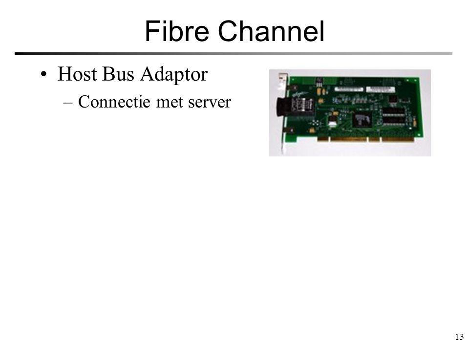 13 Fibre Channel Host Bus Adaptor –Connectie met server