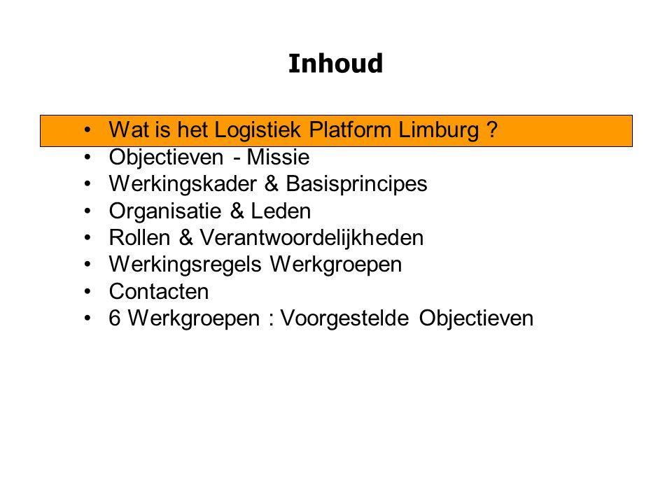 Wat is het Logistiek Platform Limburg .