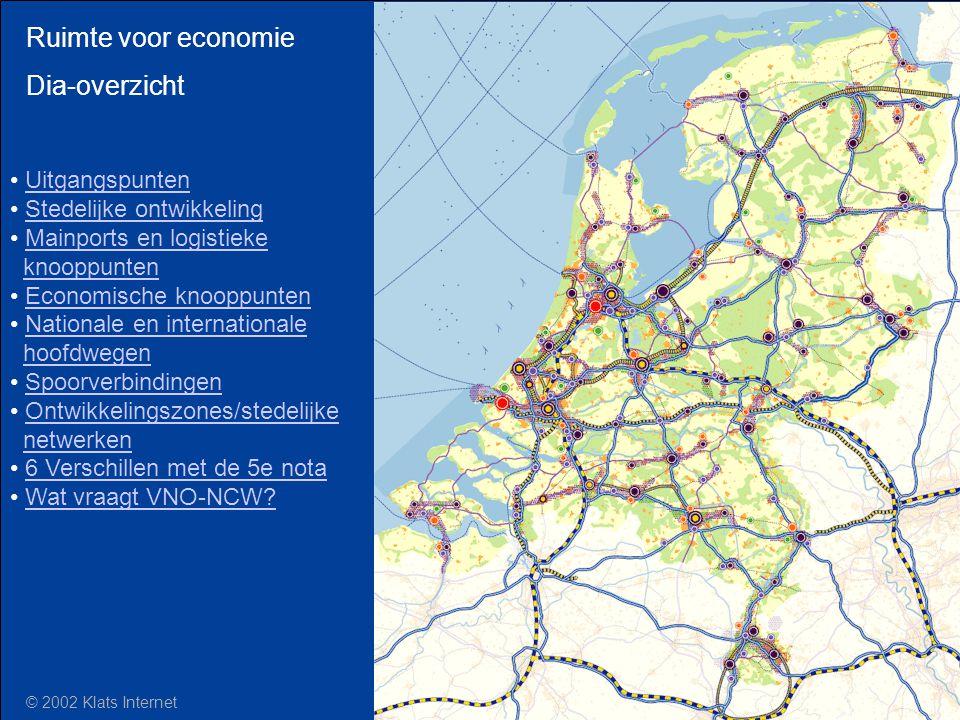 Ruimte voor economie Dia-overzicht Uitgangspunten Stedelijke ontwikkeling Mainports en logistieke knooppuntenMainports en logistiekeknooppunten Econom