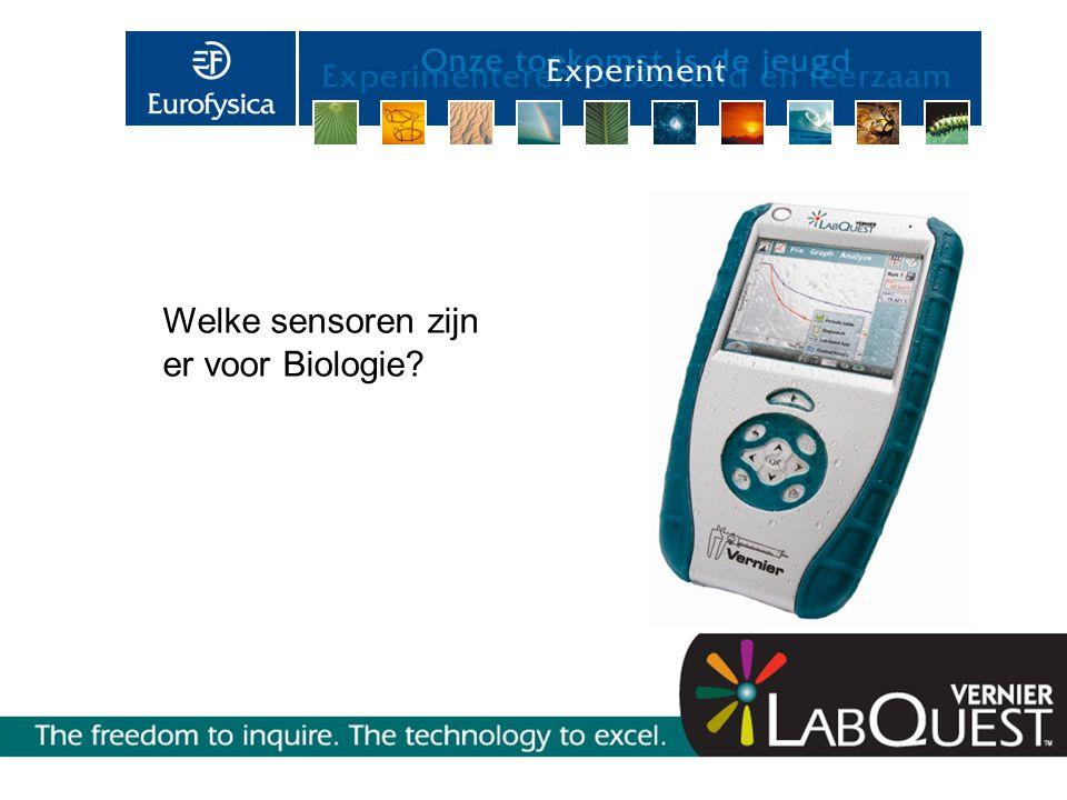 Welke sensoren zijn er voor Biologie?