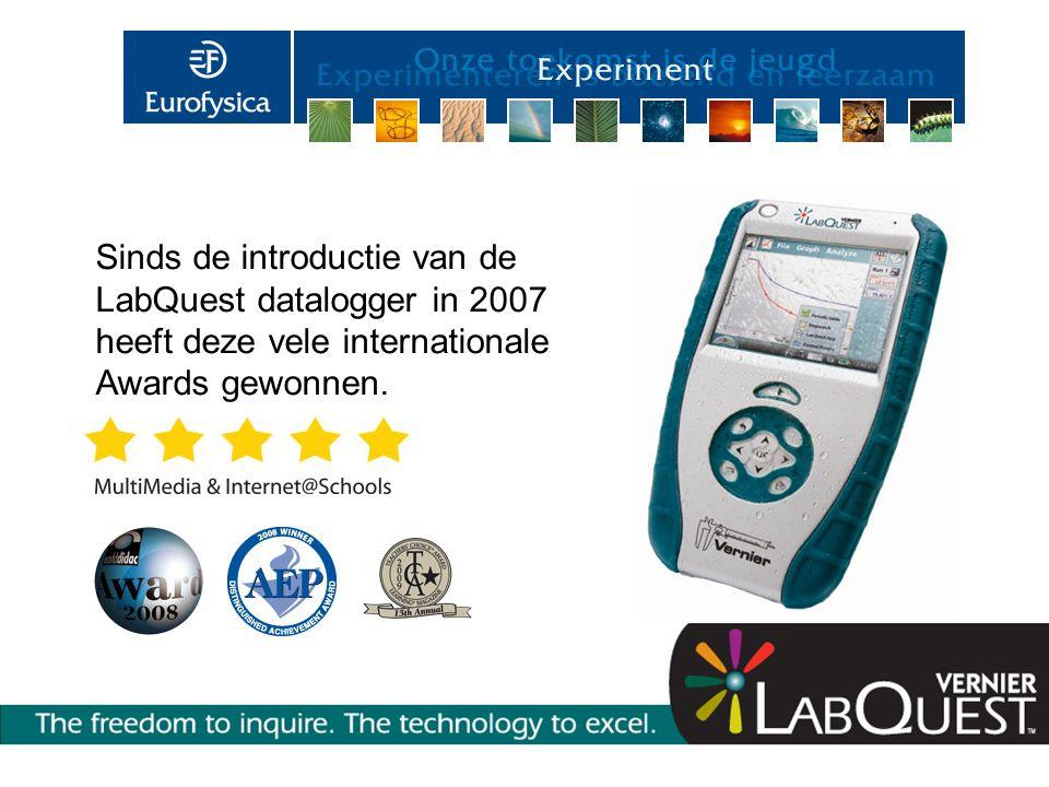 Sinds de introductie van de LabQuest datalogger in 2007 heeft deze vele internationale Awards gewonnen.
