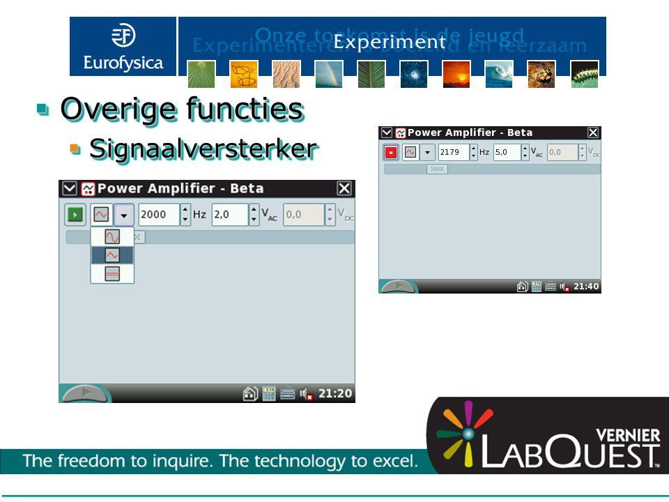  Overige functies  Signaalversterker  Overige functies  Signaalversterker