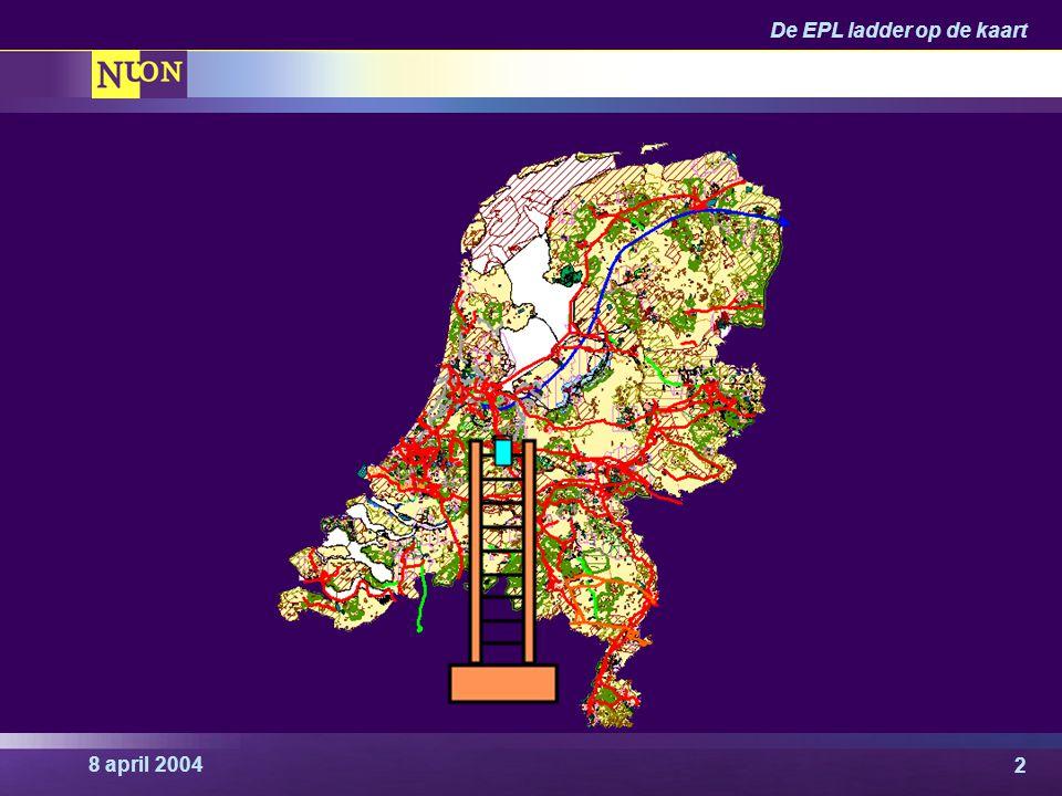 8 april 2004 De EPL ladder op de kaart 13 Almere Poort, EPL = 9.6