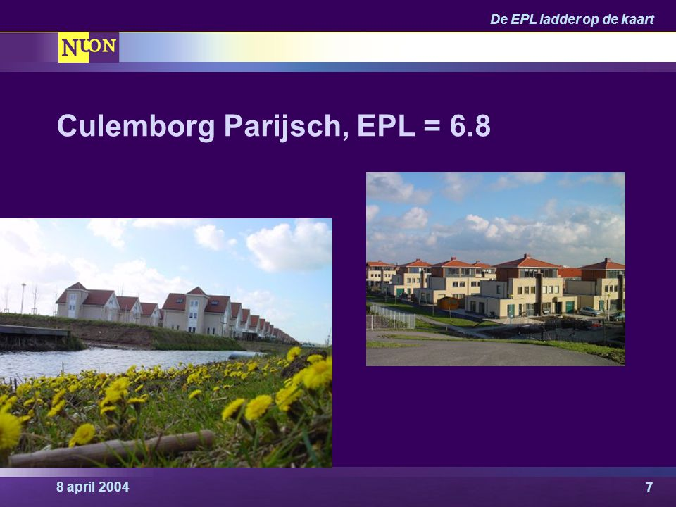 8 april 2004 De EPL ladder op de kaart 7 Culemborg Parijsch, EPL = 6.8