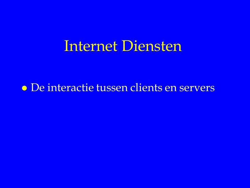 Internet Diensten l De interactie tussen clients en servers