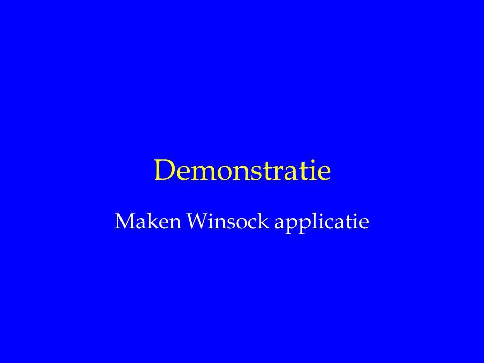 Demonstratie Maken Winsock applicatie