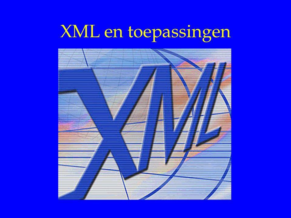 XML en toepassingen