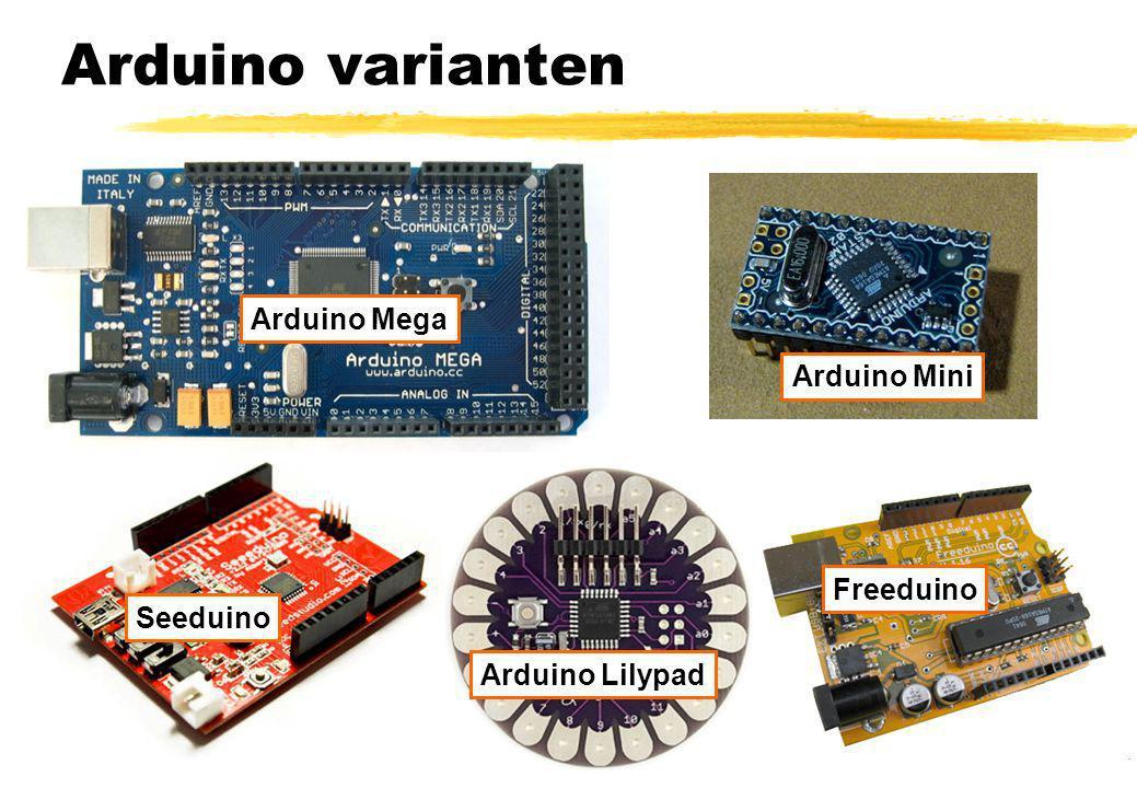 Arduino varianten Arduino Mega Arduino Mini Seeduino Freeduino Arduino Lilypad