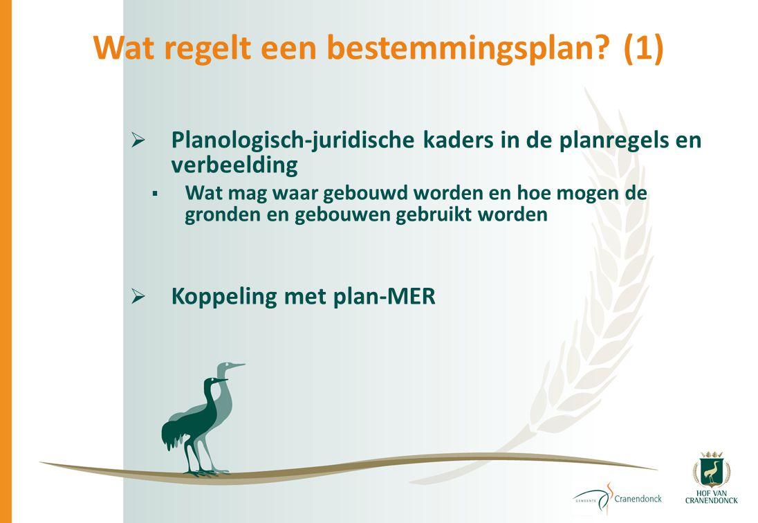  Planologisch-juridische kaders in de planregels en verbeelding  Wat mag waar gebouwd worden en hoe mogen de gronden en gebouwen gebruikt worden  K