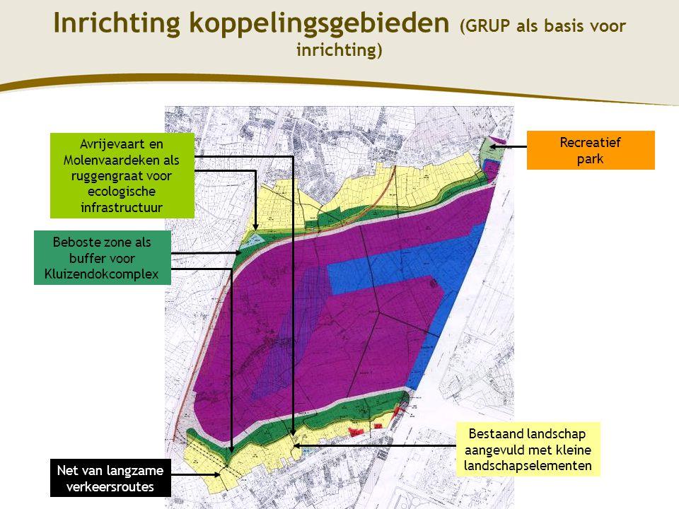 10 Recreatief park Avrijevaart en Molenvaardeken als ruggengraat voor ecologische infrastructuur Beboste zone als buffer voor Kluizendokcomplex Bestaa