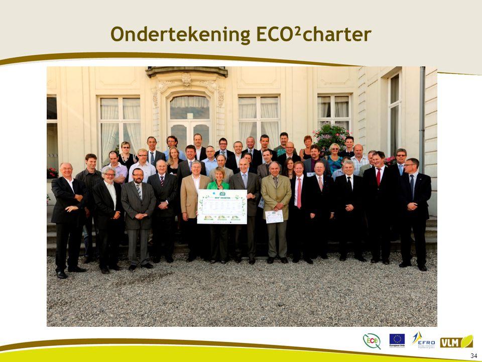 Ondertekening ECO²charter 34