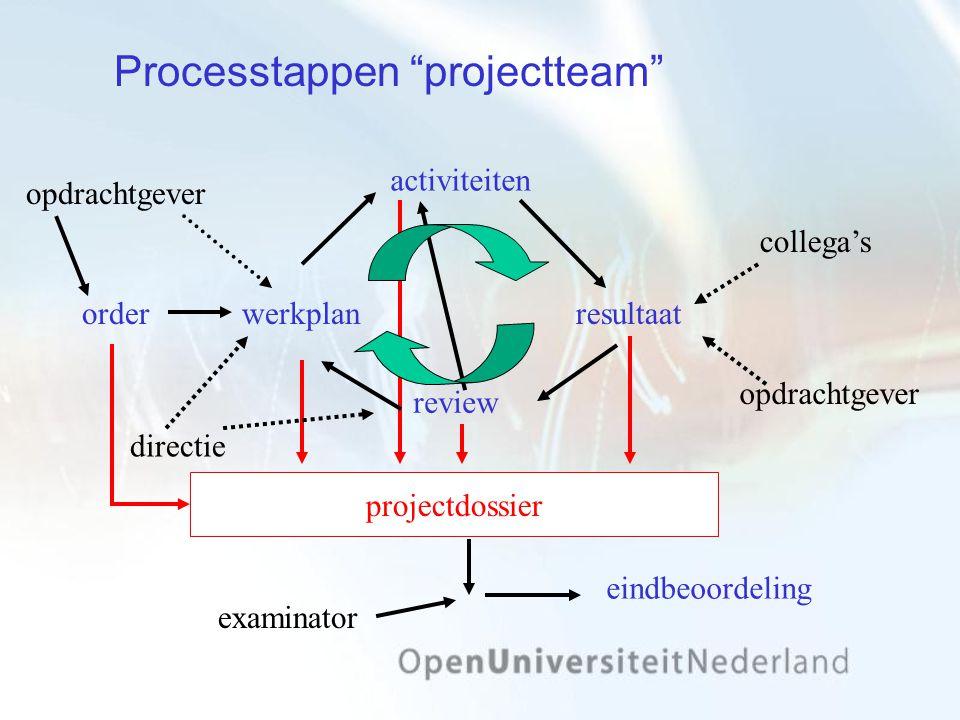 sollicitatiep.o.p reflectie activiteiten resultaat collega's directie Processtappen individueel comp.