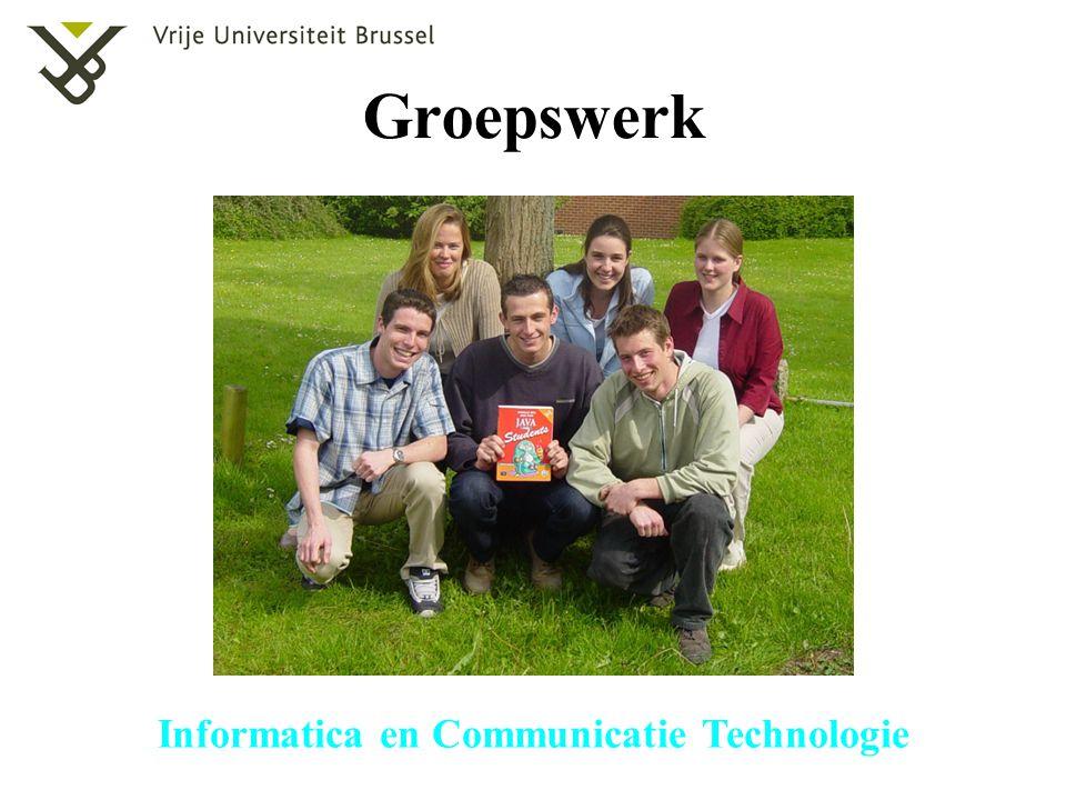 Informatica en Communicatie Technologie Evaluatie (tweede zit) De punten behaald voor het groepswerk blijven behouden.