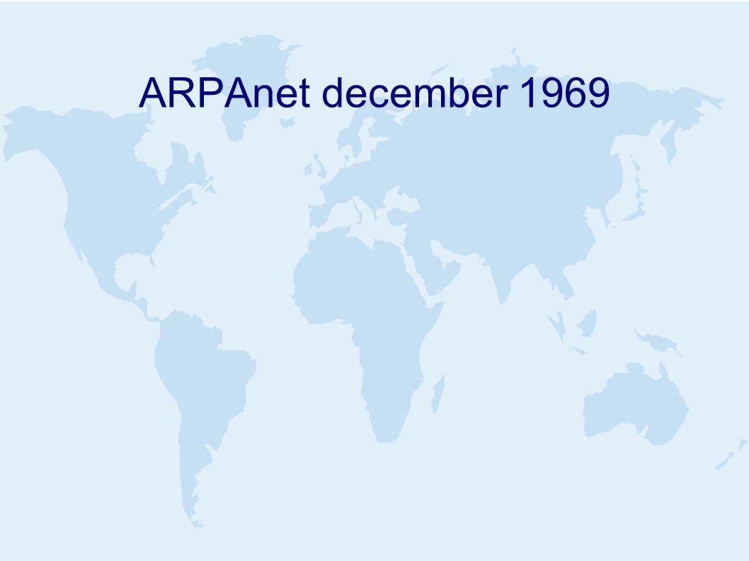 ARPAnet december 1969