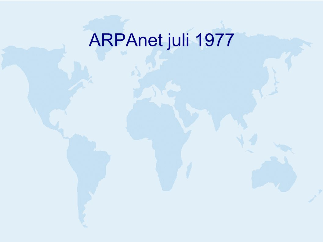 ARPAnet juli 1977