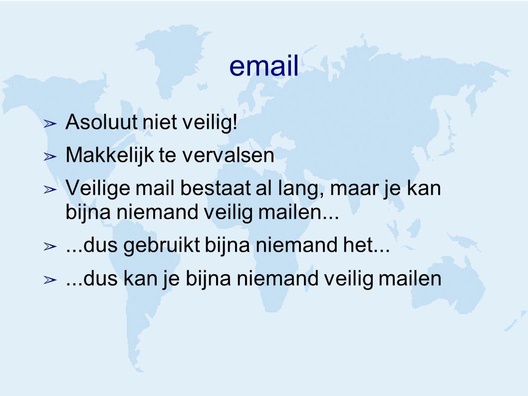 email ➢ Asoluut niet veilig.