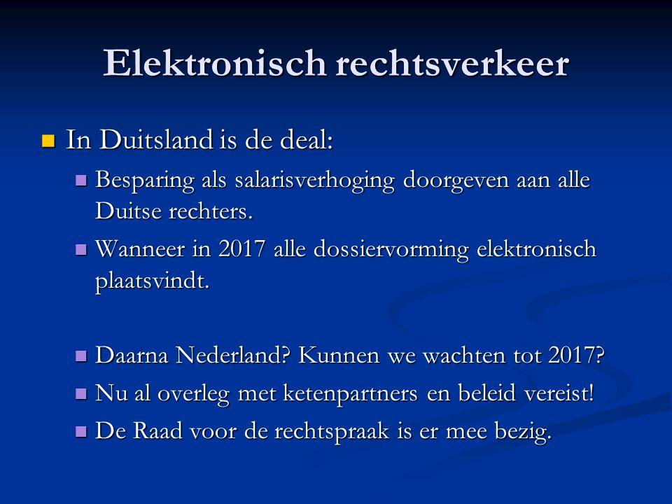 Elektronisch rechtsverkeer In Duitsland is de deal: In Duitsland is de deal: Besparing als salarisverhoging doorgeven aan alle Duitse rechters.