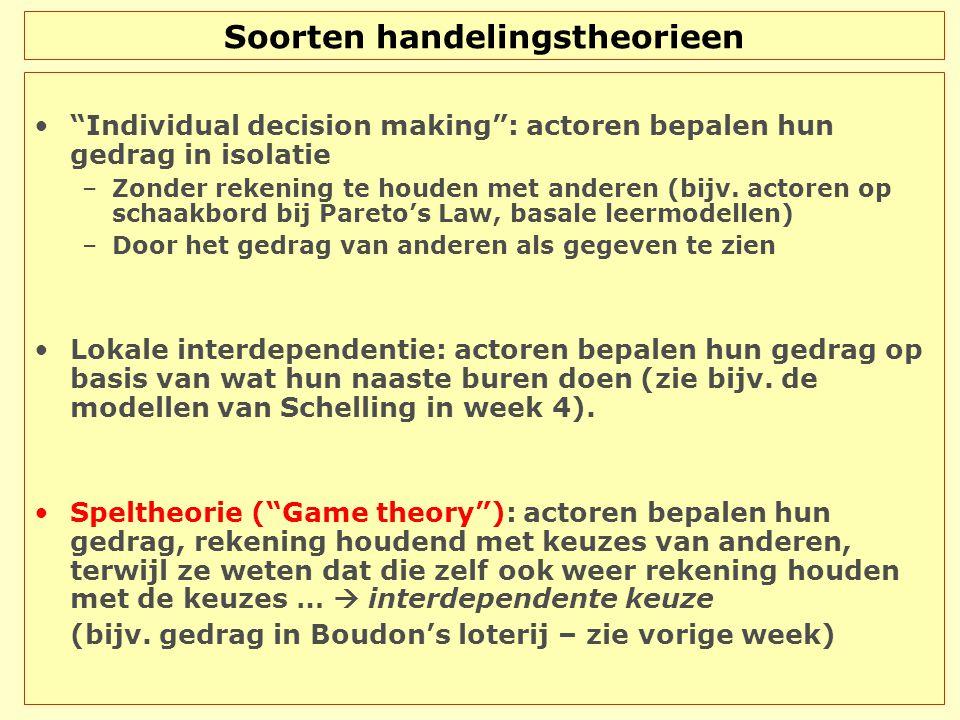 The battle of the sexes BoksenBallet Boksen 5, 2 0, 0 Ballet 0, 0 2, 5 man vrouw  In coördinatievraagstukken heb je aan speltheorie niet veel