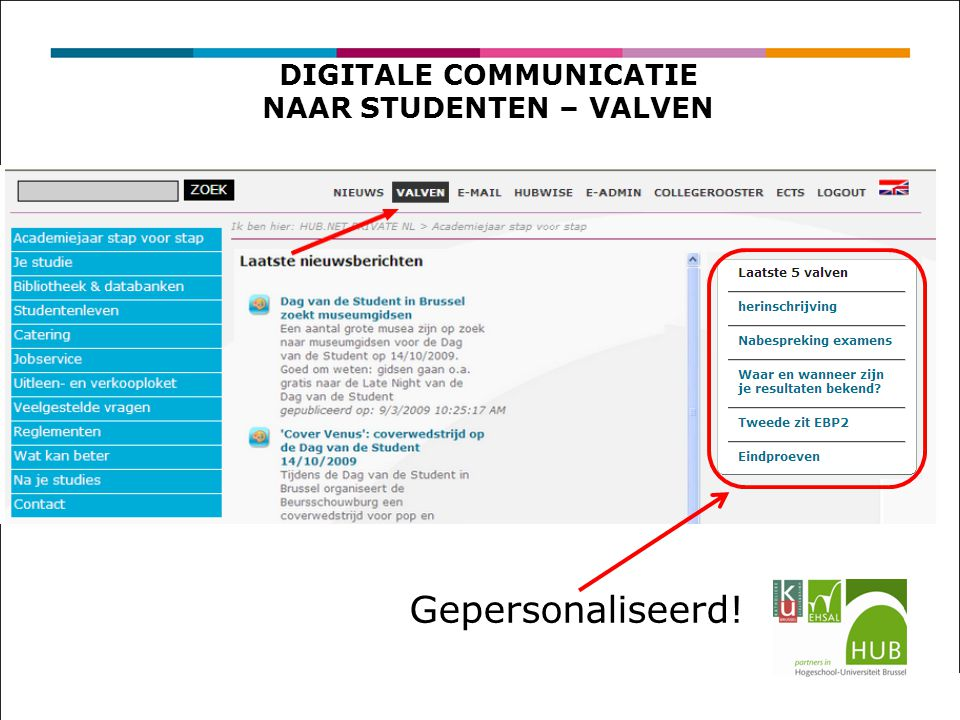DIGITALE COMMUNICATIE NAAR STUDENTEN – VALVEN Gepersonaliseerd!