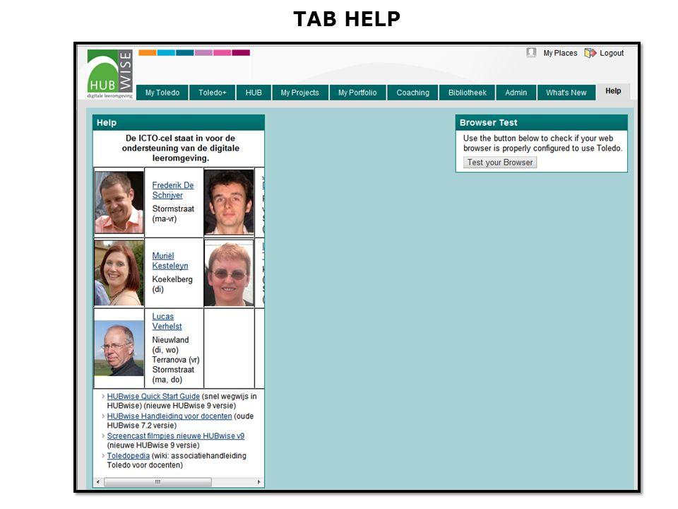 TAB HELP