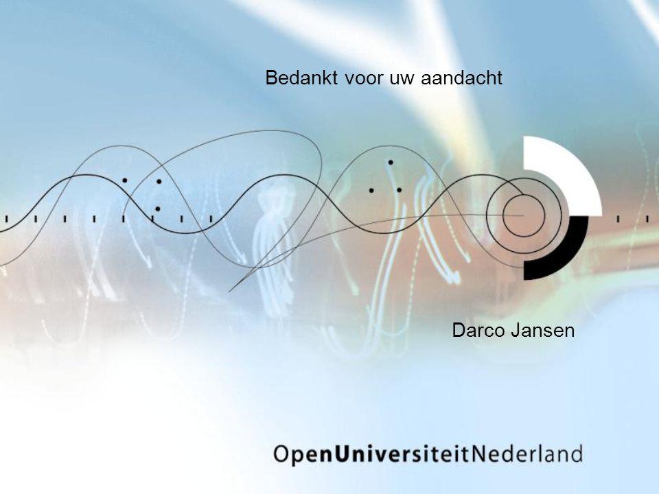 Darco Jansen Bedankt voor uw aandacht