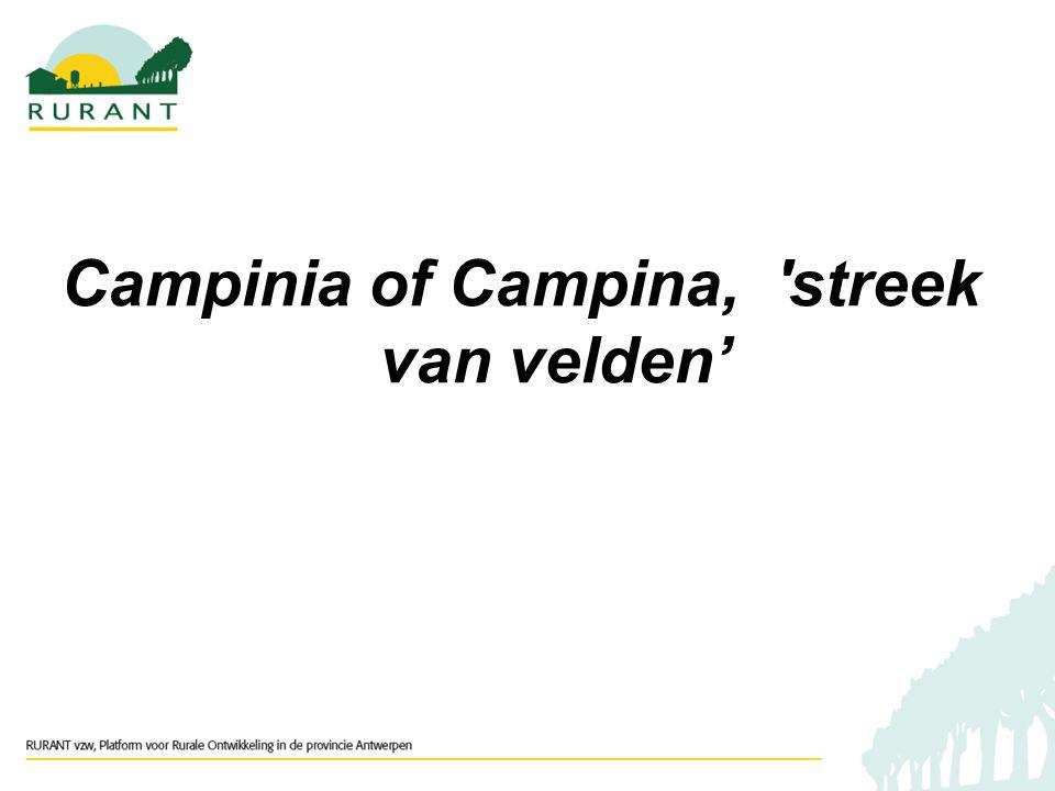 Campinia of Campina, streek van velden'